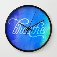 breathe Wall Clocks featuring Breathe by Noonday Design