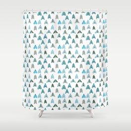 Blue Moth Shower Curtain