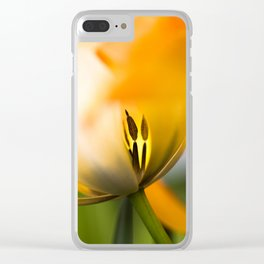 Yellow and Green Clear iPhone Case