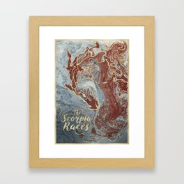 The Scorpio Races - Red as the Sea Framed Art Print
