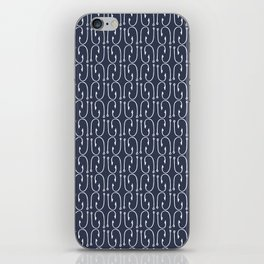Fish Hooks in Navy Blue iPhone Skin