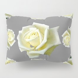 WHITE ROSES GARDEN DESIGN Pillow Sham