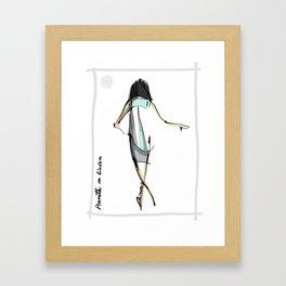 Annette in Linden [back] Framed Art Print