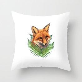Fern Fox Throw Pillow