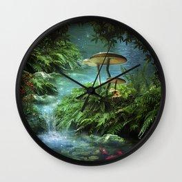 Enchanted Pond Wall Clock