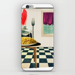 Come Home,There's Pasta iPhone Skin