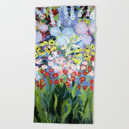 then comes spring Beach Towel