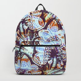 Arabesque Plant Jungle in Lavender, Orange and Purple Ethnic Pattern Illustration Backpack
