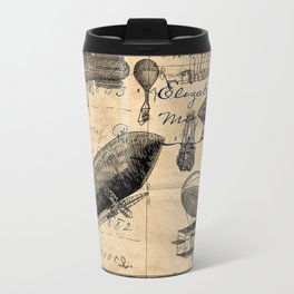 Vintage Hot Air Balloon Study Travel Mug