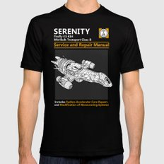 Serenity Service and Repair Manual MEDIUM Mens Fitted Tee Black