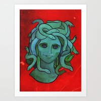 Portrait of Medusa Art Print
