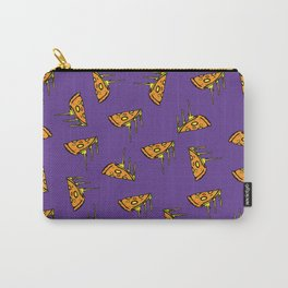 Pepperoni Pizza Dripping Cheese by the Slice Pattern (purple) Carry-All Pouch