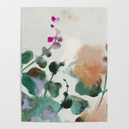 floral abstract summer autumn Poster