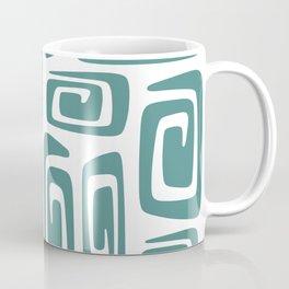 Mid Century Modern Cosmic Abstract 613 Teal Green Coffee Mug