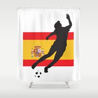 spain Shower Curtains featuring Spain - WWC by Alrkeaton