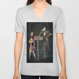 Halloween Town | Jack | Sally | Christmas | Nightmare Unisex V-Neck