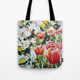 Edge of a tulip garden Tote Bag