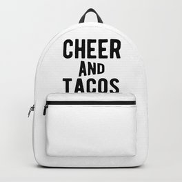 Cheer And Tacos Funny Cheerleader Graphic Backpack