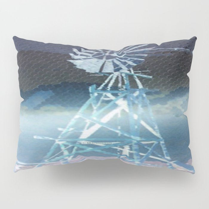 """ Windmill At Dawn "" Pillow Sham"