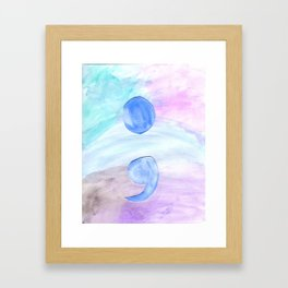 Semi Colon Framed Art Print