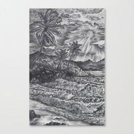 Sunrise on the ocean Canvas Print