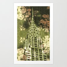 The Chrysler Building in Green Art Print