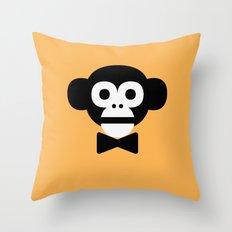 smart monkey Throw Pillow