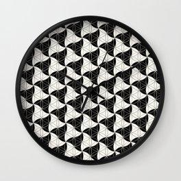 Trinity Pattern Black White Wall Clock