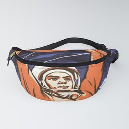 Russian Soviet CCCP Space Program Flag Poster Fanny Pack