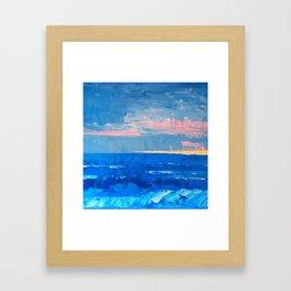 Golden Sand Seascape Framed Art Print