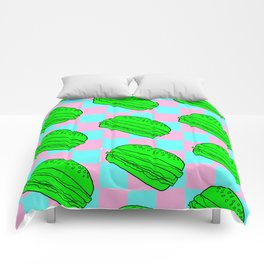 Flying Cheeseburgers Comforters