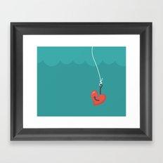 Fishing=Love Framed Art Print