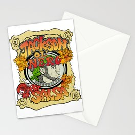 Jackson Ol' Nero Hot Salsa Label Stationery Cards