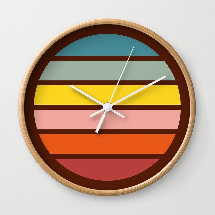 Classic Retro Striped Circle - Chizuha Wall Clock