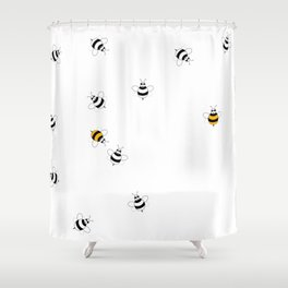 Bees Playing  Shower Curtain