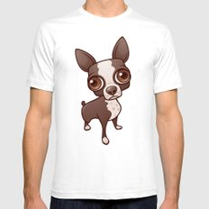 Zippy the Boston Terrier SMALL Mens Fitted Tee White