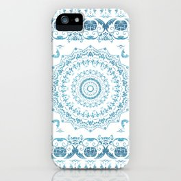 In Blue (Pattern Mandala) iPhone Case