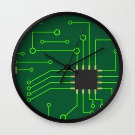Microchip Pcb, tech print Wall Clock