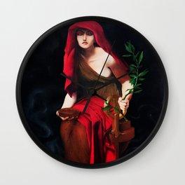 Copy of Priestess of Delphi - John Collier Wall Clock