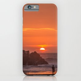 Walk at Sunset iPhone Case