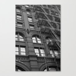 Windows and Stairs Canvas Print