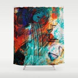 Raining Turquoise Shower Curtain