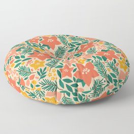 Forest Floral Floor Pillow
