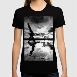 A walk with the dog - black version T-shirt