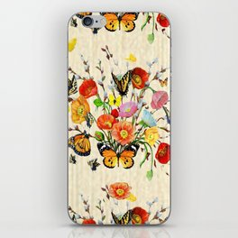 Butterfly Bouquet on Raw Silk iPhone Skin