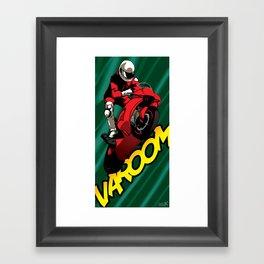Biker - Green Framed Art Print
