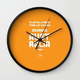 Australia Rugby Union national anthem — Advance Australia Fair Wall Clock
