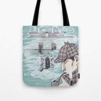 enerjax Tote Bags featuring 221B Baker Street by enerjax
