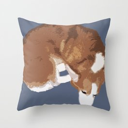 Corgi Curl Throw Pillow