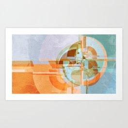 Modern boom Art Print